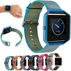 Durable Nylon Wrist Watch Band Strap+ Metal Frame Case Cover For Fitbit Blaze