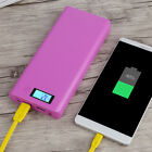8x 18650 DIY Dual USB LED Power Bank Battery Charger Case Holder Box For iPhone