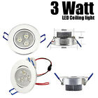 3W LED downlight pure white ceiling light AC 85-265V 6000K input driver included