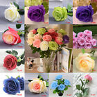 9 Head Real Latex Touch Rose Flowers For wedding Party Home Design Bouquet Decor