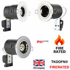 4-40x Fire Rated Twist &Lock Downlights Tilt GU10 240V Mains Resessed Spotlights