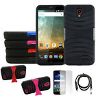 Phone Case For ZTE Zmax Grand 4G LTE Heavy Duty Cover USB Charger Screen Guard