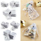 100 Organza Gift Bags Wedding Favours Party Candy Sheer Pouches Small - Large