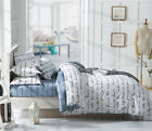 Grey And White Single Queen King Size Bed Pillowcase Quilt Duvet Cover Set