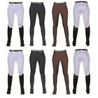 CLEARANCE | HKM Ladies 'Stretchy' Breeches with 3/4 Faux Suede Seat | RRP £56