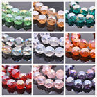 10pcs 14x8mm Rondelle Drum Shape Faceted Crystal Glass Loose Spacer Beads