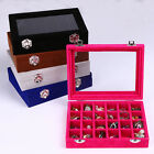 24lot Velvet Jewelry Box Necklace Rings Earring Tray Display Storage Case Holder