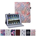 iPad 2017 Case - 9.7 inch Leather Folio Cover Slim Fit Multi-Angle Vintage Stand