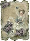 Whimsy Dust Victorian Child Quilt Block Multi Szs FrEE ShiP WoRld Wide (C4