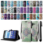 For Kyocera Hydro View C6742/ Shore ID Card Flip Wallet Cover Case Stand + Pen