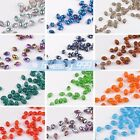Wholesale 6x8mm Faceted Glass Crystal DIY Findings Spacer Loose Oval Beads