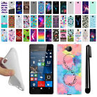 For Microsoft Nokia Lumia 650 TPU SILICONE Soft Protective Case Cover + Pen