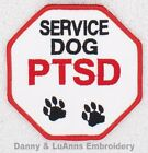 PTSD SERVICE DOG PAWS STOP SIGN PATCH 3 INCH Danny & LuAnns Embroidery