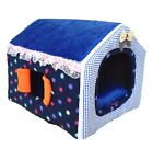 Pet Dog Cat Soft House Bed Foldable Cute Cozy Cave Bed