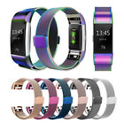 Metal Magnetic Stainless Watch Ersatz Uhrenarmband für Fitbit Charge 2 Tracker