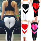 Fashion Women Heart Printed Plus Size Pants Sport Fitness Trousers Yoga Leggings
