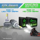 H7 55w HID Low Headlight Xenon Conversion Kit + H1 6000K LED White High Beam