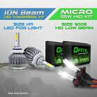 9006 55w HID Low Headlight Xenon Conversion Kit + H11 6000K LED White High Beam