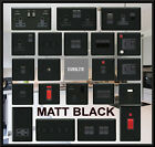 QUALITY MATT BLACK  USB PLUG SOCKETS STANDARD OR LED DIMMER LIGHT SWITCHES
