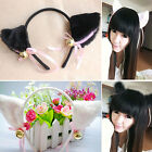 Cat Ears Hairband Headband with Bell Cosplay Halloween Party Fancy Dress Costume