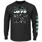 Men's New York Jets Majestic Official History Long-Sleeve T-Shirt