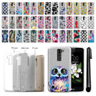 For LG K7 Tribute 5 LS675 MS330/ M1 Slim Sparkling Silver TPU Case Cover + Pen