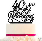 Cake Topper 10 20 30 40 50 60 70 80 & Fabulous Anniversary/Birthday or any year