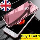 New Mirror Full Protective Slim Hard Case Cover Skin For iPhone 7 Plus + Glass