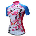 Women Cycling Jersey Short Sleeve Bicycle Clothing Cat Flowers breathable shirt