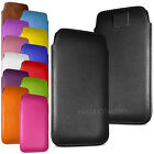 For Vodafone Smart V8 - Premium PU Leather Pull Tab Case Cover Pouch
