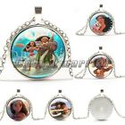 New Moana Silver Plated Glass Pendants Necklaces For Women&Men Kids Gifts