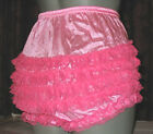 VINTAGE STYLE ALL NYLON RUFFLE FRILLY PANTIES  SIZE LARGE VARIOUS COLOURS