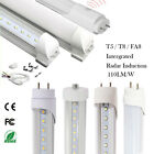 1-10Pack 36W T5 T8 4FT 8FT FA8 Integrated Radar LED Tube Light MILKY/CLEAR LENS