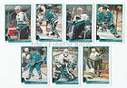 1993-94 UPPER DECK SAN JOSE SHARKS Select from LIST SERIES 2 HOCKEY CARDS