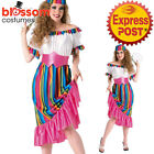 CA324 South of The Border Mexican Wild West Womens Fiesta Spanish Dress Costume