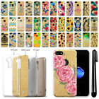 """For Apple iPhone 8 / iPhone 7 4.7"""" Slim Sparkling Gold TPU Case Cover + Pen"""