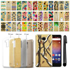 For Huawei Ascend XT H1611 Slim Sparkling Gold TPU Silicone Case Cover + Pen