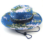 Military Wide Brim Sun Camo Boonie Cap Fishing Hiking Outdoor Cap Bucket Hat