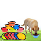 Pet Dog Portable Silicone Collapsible Travel Feeding Bowl Food Water Dish Feeder