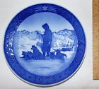 GREENLAND SCENERY - 1978 - ROYAL COPENHAGEN - BLUE on WHITE Wall Plate
