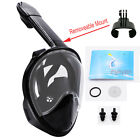 upgrade 2nd 180° Full Face Mask Swimming Mask Scuba Snorkel&mount for Gropo