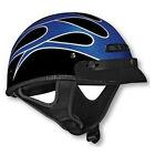 Vega XTS Motorcycle Half Helmet Blue Flame Metallic Adult