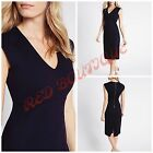 NEW MARKS & SPENCER M&S DRESS BODYCON SHIFT NAVY JERSEY WORKWEAR OFFICE 8 - 22