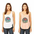 Ish Original Official Women Ladies 60's Las Vegas Side Slit Tank Tops Tee