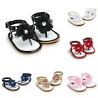 Cute Baby Girls Flower Crystal Sandals Toddler Princess Soft Sole Shoes 0-18M