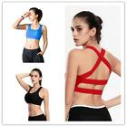 Women's Stretch Padded Sports Bra Criss-cross Back Fitness Yoga Workout Tank Top
