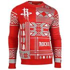 Klew NBA Men's Houston Rockets Patches Ugly Sweater, Red on eBay
