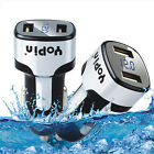 DC 5V 2.4A Dual USB Car Quick Charger Adapter Voltage Tester For iPhone Samsung
