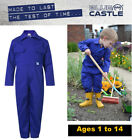Children's Kids Boys Girls Play Suit Garage Mechanic Overall Coverall - BLUE