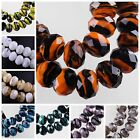 20pcs 12X8mm Faceted Rondelle Lampwork Glass Loose Spacer Beads DIY Findings